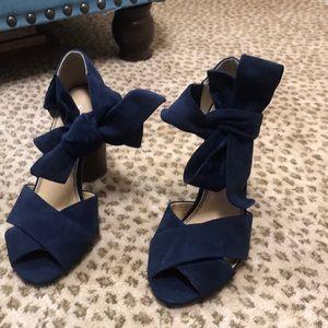 Strappy heeled open-toe pumps by Splendid